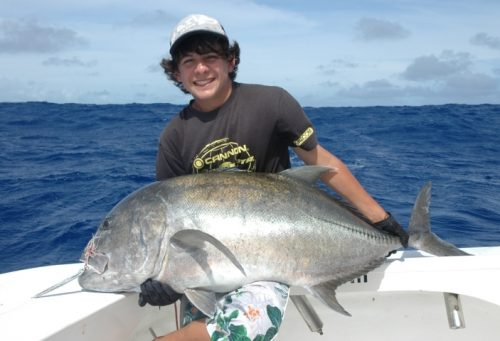 30kg GT release on jigging - Rod Fishing Club - Rodrigues Island - Mauritius - Indian Ocean