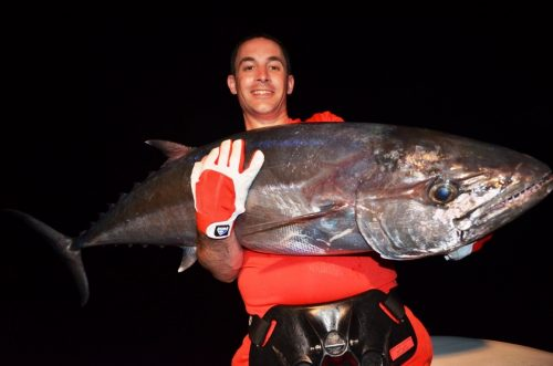30kg doggy for Loic on jigging at night - Rod Fishing Club - Rodrigues Island - Mauritius - Indian Ocean