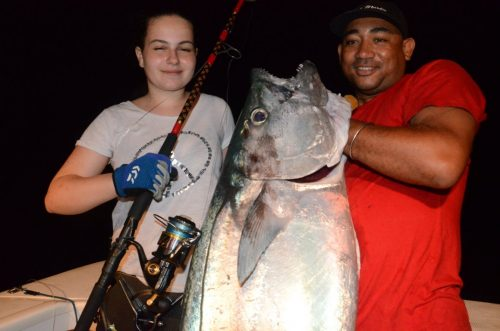 33.5kg doggy on baiting for Cecile - Rod Fishing Club - Rodrigues Island - Mauritius - Indian Ocean