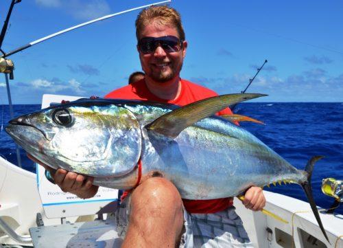 33kg yellowfin tuna- Rod Fishing Club - Rodrigues Island - Mauritius - Indian Ocean