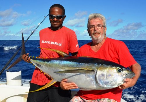34kg yellowfin tuna - Rod Fishing Club - Rodrigues Island - Mauritius - Indian Ocean