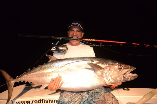 35kg doggy on jigging by Pierre - Rod Fishing Club - Rodrigues Island - Mauritius - Indian Ocean