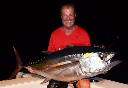 38kg bigeye tuna on baiting - Rod Fishing Club - Rodrigues Island - Mauritius - Indian Ocean