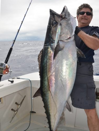 40kg doggy on very deep jigging - Rod Fishing Club - Rodrigues Island - Mauritius - Indian Ocean