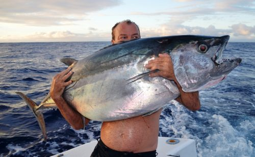 42kg doggy on jigging - Rod Fishing Club - Rodrigues Island - Mauritius - Indian Ocean