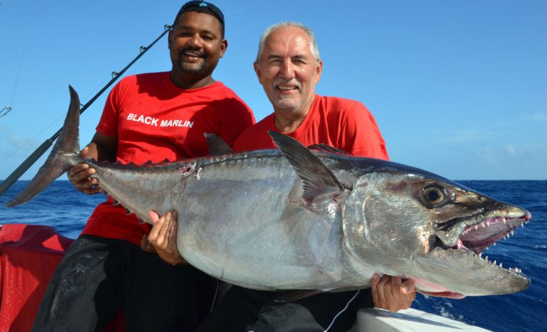 50.5kg doggy on live baiting - Rod Fishing Club - Rodrigues Island - Mauritius - Indian Ocean