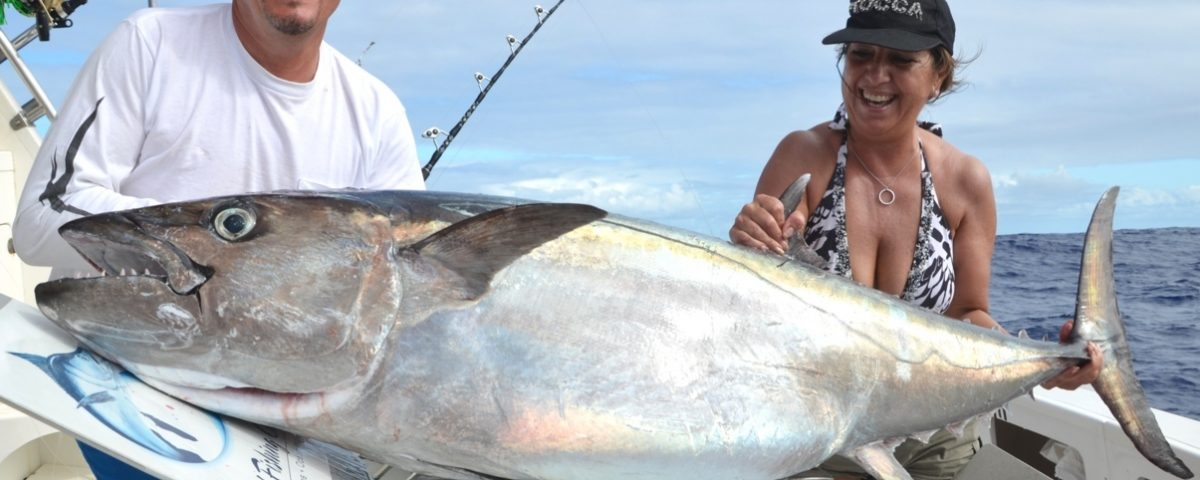 51kg doggy for Gianni on livebaiting - Rod Fishing Club - Rodrigues Island - Mauritius - Indian Ocean