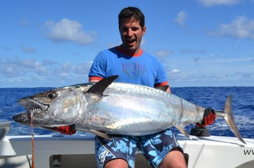 55kg doggy on jigging by Fred - Rod Fishing Club - Rodrigues Island - Mauritius - Indian Ocean