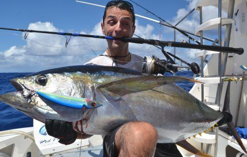 55kg yellowfin tuna on heavy spinning - Rod Fishing Club - Rodrigues Island - Mauritius - Indian Ocean