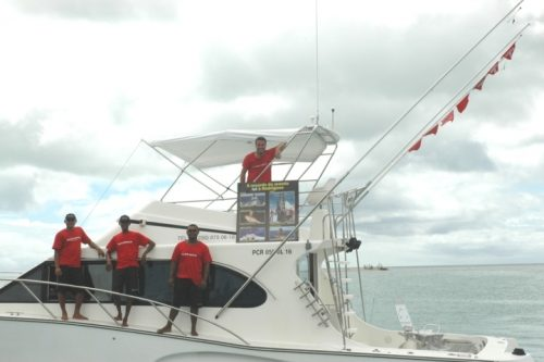 7 fanions pour l'équipage -Rod Fishing Club - Ile Rodrigues - Maurice - Océan Indien