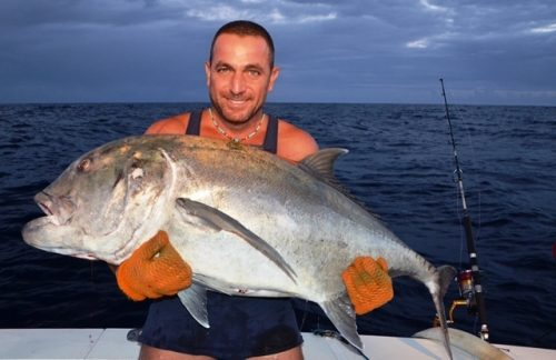 Around 30kg GT released - Rod Fishing Club - Rodrigues Island - Mauritius - Indian Ocean
