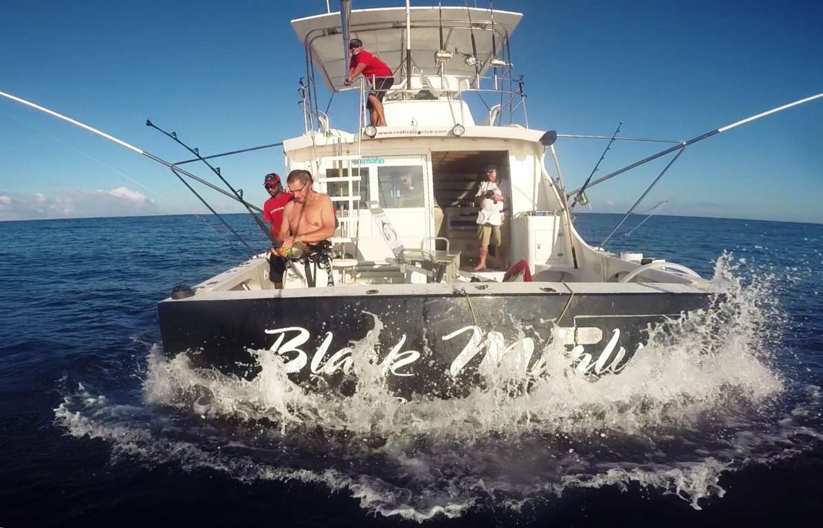 Back of Black Marlin boat - Rod Fishing Club - Rodrigues Island - Mauritius - Indian Ocean