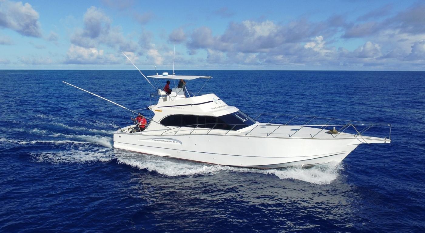 Bateau Black Marlin - Rod Fishing Club - Ile Rodrigues - Maurice - Océan Indien