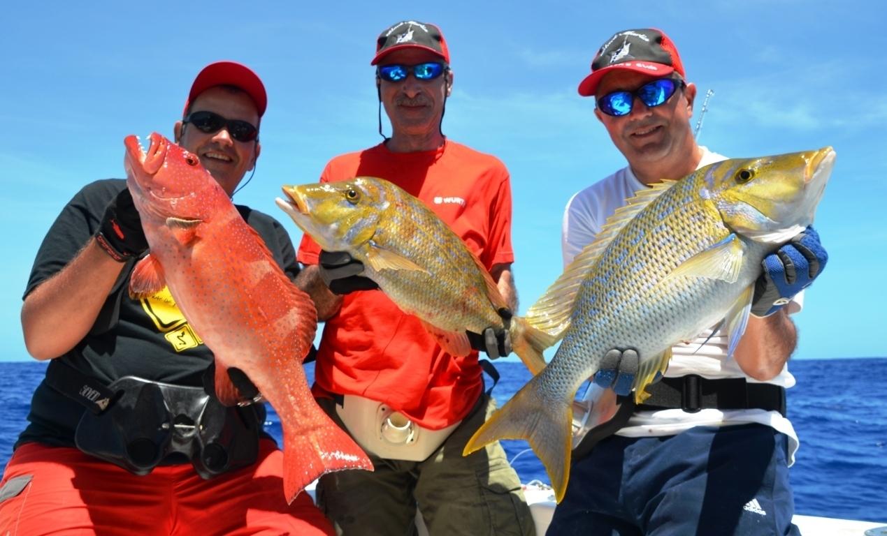 Belle variété en pêche à la palangrotte - Fév 2014 - - Rod Fishing Club - Ile Rodrigues - Maurice - Océan Indien