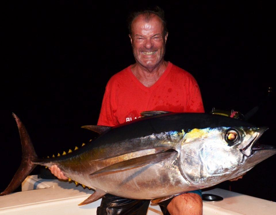 Big eye tuna or Thunnus obesus - Rod Fishing Club - Rodrigues Island - Mauritius - Indian Ocean
