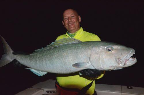 Big jobfish on night jigging - Rod Fishing Club - Rodrigues Island - Mauritius - Indian Ocean