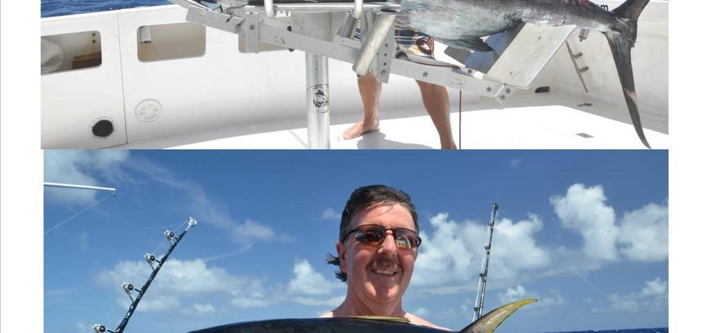 Black marlin and nice yellowfin tuna - Rod Fishing Club - Rodrigues Island - Mauritius - Indian Ocean