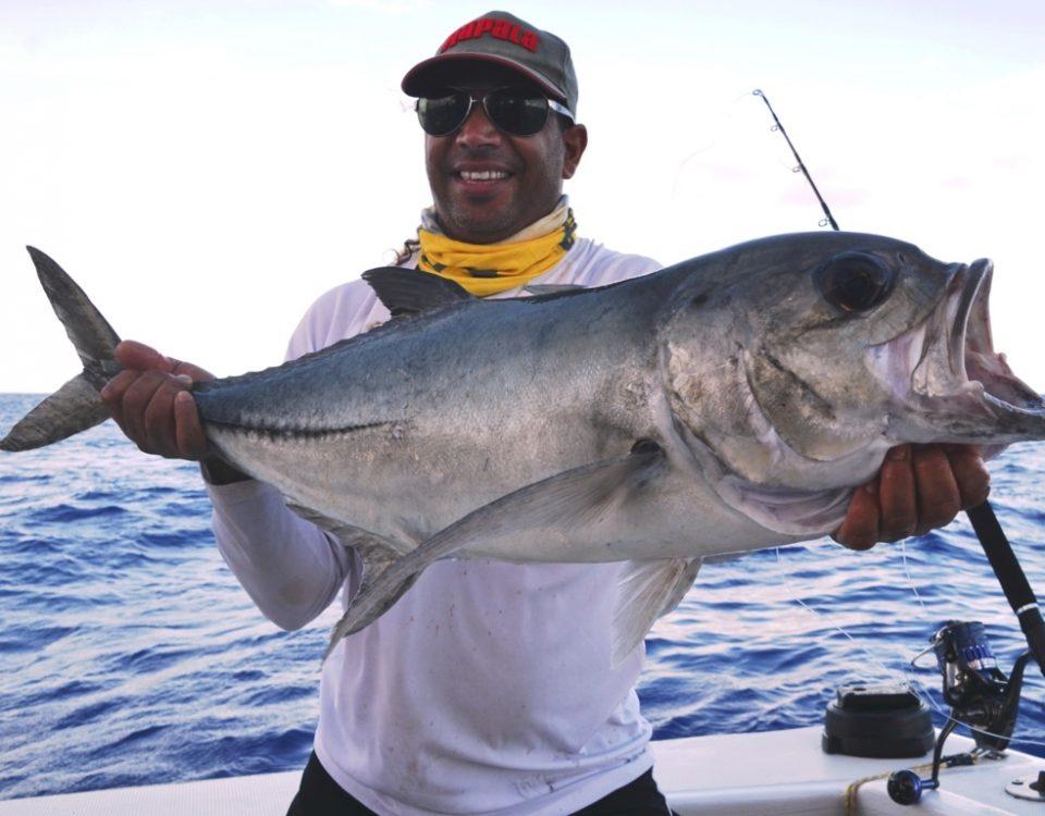 Carangue gros yeux ou Caranx sexfasciatus - Rod Fishing Club - Ile Rodrigues - Maurice - Océan Indien
