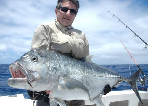 Claudius and nice GT caught on jigging - Rod Fishing Club - Rodrigues Island - Mauritius - Indian Ocean