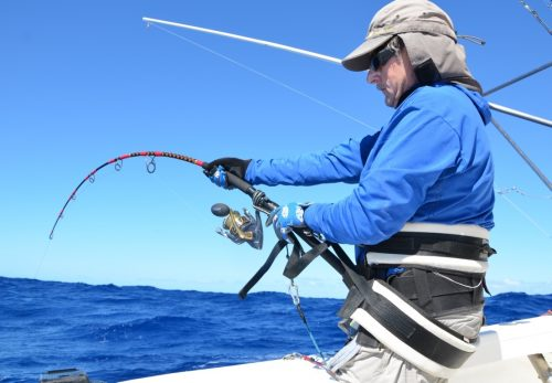 Claudius on fighting - Rod Fishing Club - Rodrigues Island - Mauritius - Indian Ocean