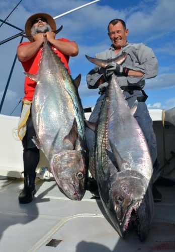 Doggies of 63.5 et 56.5kg - Rod Fishing Club - Rodrigues Island - Mauritius - Indian Ocean
