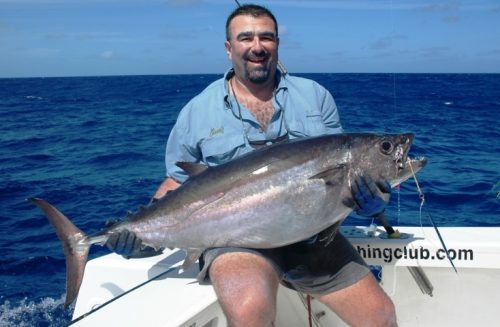 Doggy for Malik on jigging - Rod Fishing Club - Rodrigues Island - Mauritius - Indian Ocean