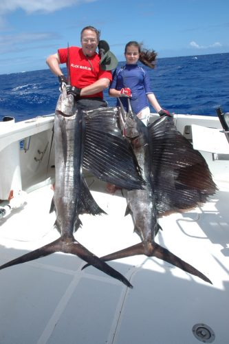 Double sailfish on trolling - Rod Fishing Club - Rodrigues Island - Mauritius - Indian Ocean