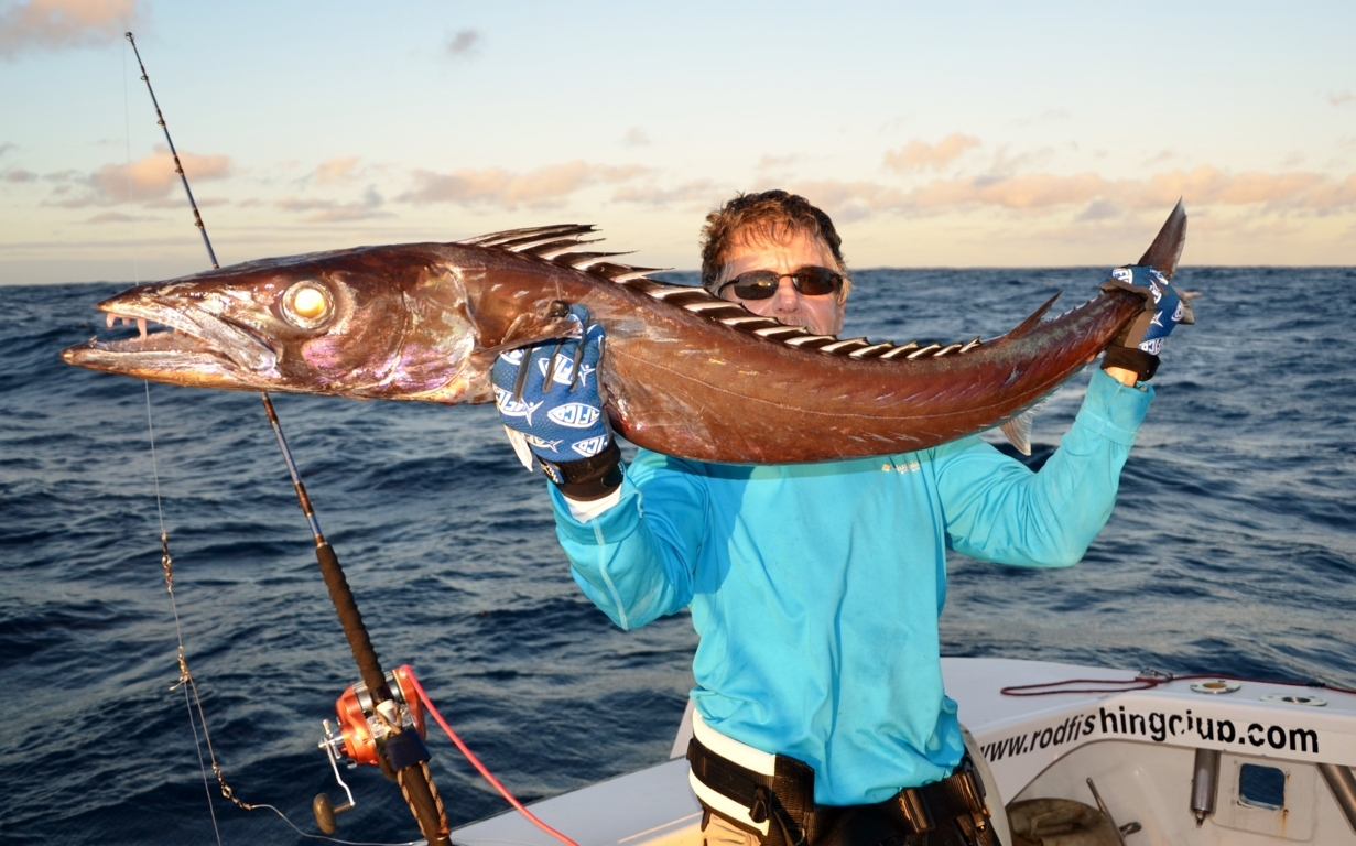 Escolier gracille pris en pêche à l'appât - Rod Fishing Club - Ile Rodrigues - Maurice - Océan Indien