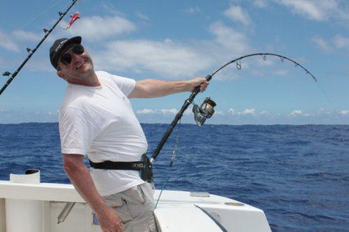 Fighting on jigging - Rod Fishing Club - Rodrigues Island - Mauritius - Indian Ocean