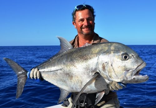 GT released - Rod Fishing Club - Rodrigues Island - Mauritius - Indian Ocean
