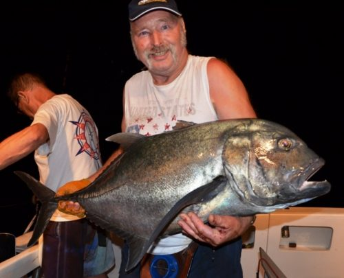 Giant Trevally released - Rod Fishing Club - Rodrigues Island - Mauritius - Indian Ocean