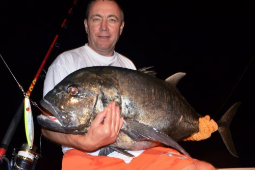 GT released on jigging - Rod Fishing Club - Ile Rodrigues - Maurice - Océan Indien