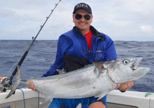 Gianni and his doggy on livebaiting- Rod Fishing Club - Rodrigues Island - Mauritius - Indian Ocean