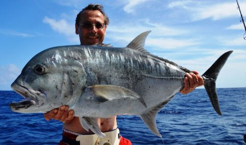 Giant trevally GT - Rod Fishing Club - Rodrigues Island - Mauritius - Indian Ocean