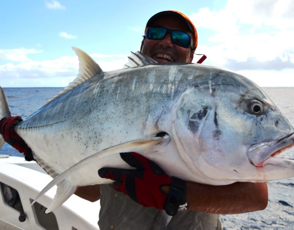 Giant trevally - Rod Fishing Club - Rodrigues Island - Mauritius - Indian Ocean