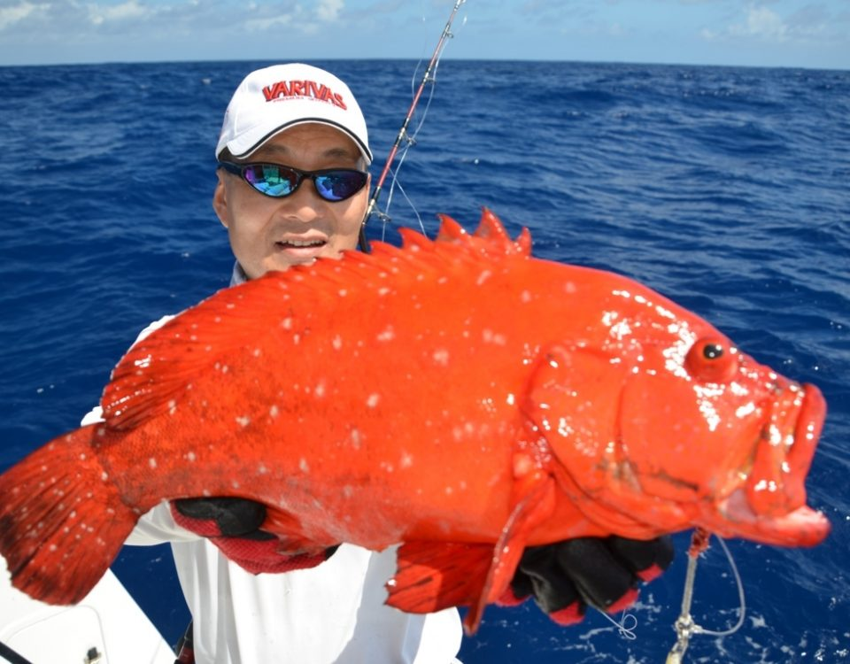 Golden hind for Igor on jigging - Rod Fishing Club - Rodrigues Island - Mauritius - Indian Ocean