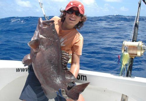 Grouper on jigging - Rod Fishing Club - Rodrigues Island - Mauritius - Indian Ocean