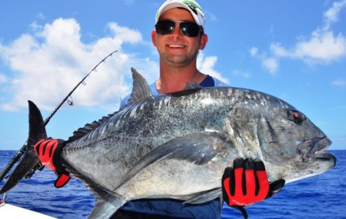 Henry and his GT - Rod Fishing Club - Rodrigues Island - Mauritius - Indian Ocean