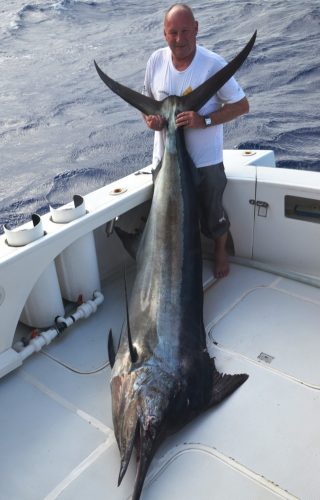 Jacques and his marlin - Rod Fishing Club - Rodrigues Island - Mauritius - Indian Ocean
