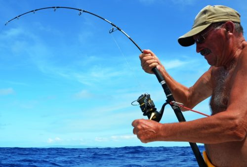 Jean on fight - Rod Fishing Club - Rodrigues Island - Mauritius - Indian Ocean