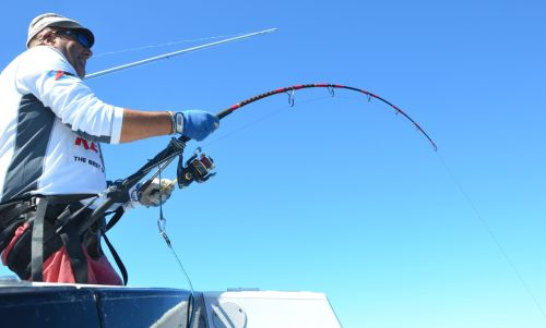 Marc on fighting - Rod Fishing Club - Rodrigues Island - Mauritius - Indian Ocean