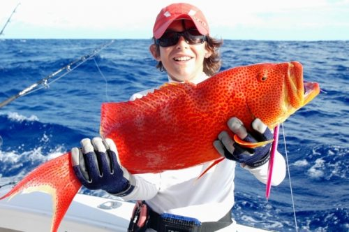 Moontail sea bass - Rod Fishing Club - Rodrigues Island - Mauritius - Indian Ocean