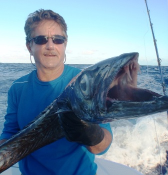 Mouth of black snoek on Very Deep Baiting - Rod Fishing Club - Rodrigues Island - Mauritius - Indian Ocean.