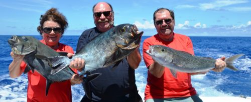 Nice variety on baiting - Rod Fishing Club - Rodrigues Island - Mauritius - Indian Ocean