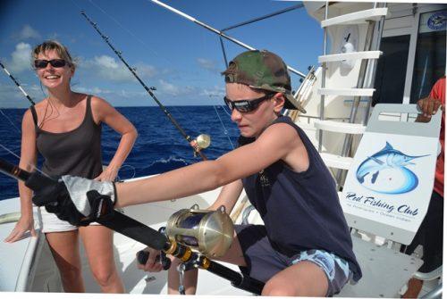 On fighting - Rod Fishing Club - Rodrigues Island - Mauritius - Indian Ocean