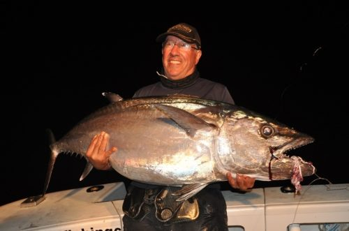 Paul and a big doggy - Rod Fishing Club - Rodrigues Island - Mauritius - Indian Ocean