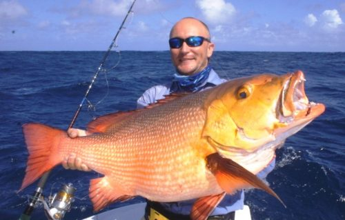 Red snapper for Igor on baiting - RodFishing Club - Rodrigues Island - Mauritius - Indian Ocean