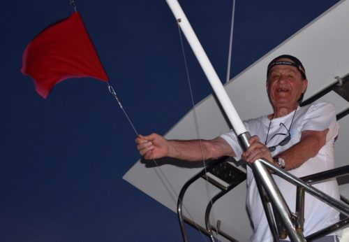 Sir Pierre and his marlin flag - Rod Fishing Club - Rodrigues Island - Mauritius - Indian Ocean