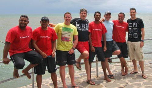 The whole team - Rod Fishing Club - Rodrigues Island - Mauritius - Indian Ocean