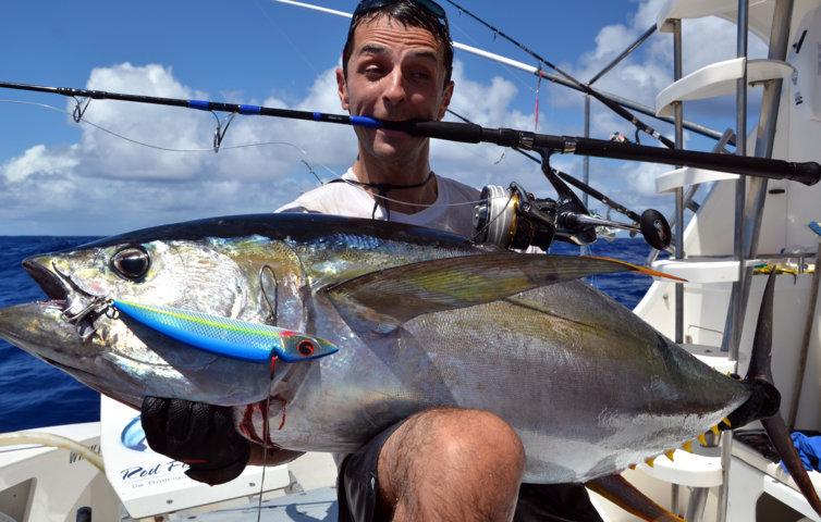 Thon jaune de 55kg en Heavy Spinning par Jean Guy - Rod Fishing Club - Rodrigues Island - Mauritius - Indian Ocean